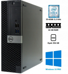Dell OptiPlex 5050 I5-6500 16GB 256SSD WIN10 PRO